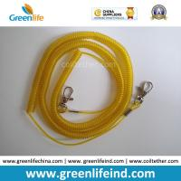 Wholesale Wholesale Greenlife Factory Robster Clip Stretch Transparent Yellow 5M Tool Coil Lanyard for Fishing anti-drop from china suppliers