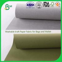Quality different color washable kraft paper roll for making bag  wallet for sale