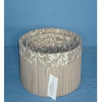 Wholesale New brown luxury round wooden box with lining from china suppliers