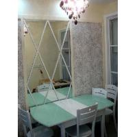 Quality Color Bath Silver Mirror Glass For Home Decor , Double Paints For Protection for sale