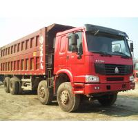 Wholesale Howo 8 by 4 heavy duty dump truck 8 Meters Front Tipper 45 tons loading for construction / mining from china suppliers