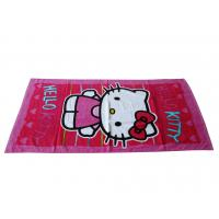 China Velour beach towel with reactive printing in customer's design on sale