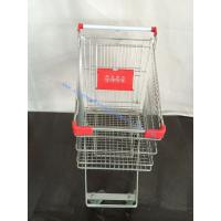 Wholesale Chrome Surface Hand Push Grocery Shopping Trolley Cart Kitty Style on Wheels from china suppliers