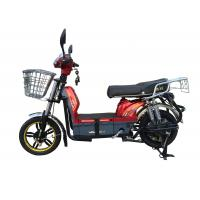 Wholesale 450W Adult Electric Bicycle Red Battery Operated Bikes With Motorcyle Seat Steel Frame from china suppliers