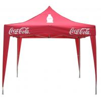 Red Coca Cola Instant Folding Gazebo Tent With Slant Leg