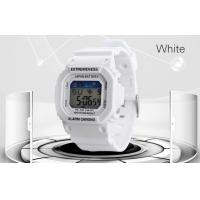 Wholesale Elegant Ladies White Digital Watch ABS Case 12 / 24 hr Wrist Watches from china suppliers