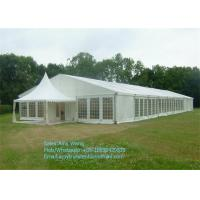 Wholesale Marquee Wedding Party Tents , Outdoor Gazebo Tent 4x4m With Glass / ABS Walls from china suppliers