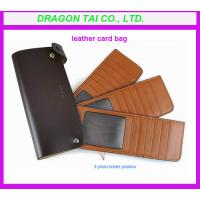 Wholesale credit card wallet with photo holder, leather  card bag from china suppliers