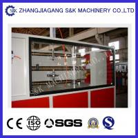 Quality 90mm Diameter high speed pvc pipe production line Double Screw Extruder ISO9001 for sale
