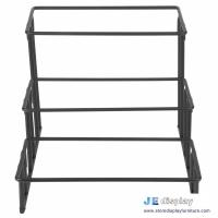Quality China made black metal craft stepped three tier wrought iron art rectangular food display stand and racks for sale