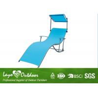 Wholesale Moisture - Proof Blue Comfortable Folding  Beach Chair With Canopy Portable from china suppliers