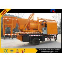 Wholesale Double - horizontal Shafts Mobile Concrete Batching Main Motor 37Kw from china suppliers