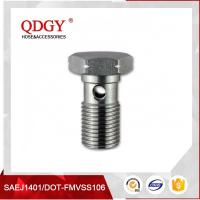 Wholesale STAINLESS STEEL MATERIAL BRAKE HOSE FITTINGS SINGLE BANJO BOLT M12 X 1.25 from china suppliers