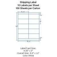 "Wholesale Butt Cut Square Shipping Label 4-1/4""x2"" 10 Labels per Sheet 100 Sheets per Carton from china suppliers"