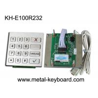 Wholesale Vandal Proof Kiosk / ATM Checking Devices Metal Numeric Keypad Outdoor , 16 Function Keys from china suppliers