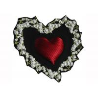 Wholesale Heart Shape College Embroidered Patches Red  Embroidered School Badges from china suppliers