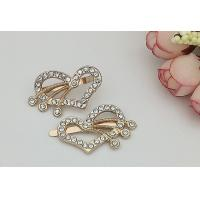 Wholesale LHZ426 Heart Decorative Shoe Clips , Hardwearing DIY Shoe Clips Exquisite from china suppliers