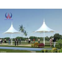 Large Shade Umbrella Shape Tensile Structure Architecture Center Pole Support