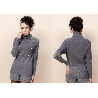 China Fashion Solid Color Womens Turtleneck Sweaters , Fine Knit Ladies Sweater in Long Sleeve on sale