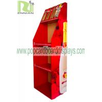 Wholesale Recyclable Water / Wine Red Paper Pop Cardboard Displays Custom Designed from china suppliers
