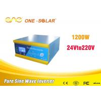 Wholesale 24 dc 110v ac pure sine wave Solar Panel Power Inverter 1000w 1200w 3000w from china suppliers