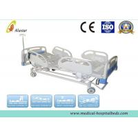 Wholesale Hospital Electric Bed 5 Funtion ABS Guardrails ICU Bed With Brake Wheel (ALS-E502) from china suppliers