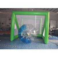 Wholesale Green 0.55mm PVC tarpaulin Inflatable sports games Arch Football Goal / Soccar Gate Games from china suppliers