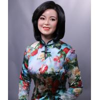Wholesale life-size Chinese lady deng lijun sitting pose wax figure for museum from china suppliers
