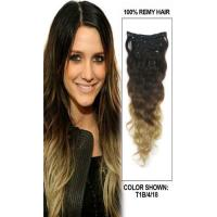 Wholesale Peruvian Multi Ombre Color Hair Extensions Clips Full Ends Double Drawn from china suppliers