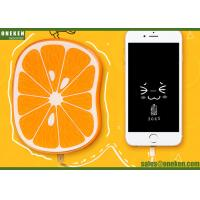 Wholesale Fastcharging 8000mAh Fruit Power Bank Orange Polymer Battery CE / ROHS from china suppliers
