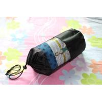 Wholesale anti slip yoga mat towel with pvc plum flower ornament from china suppliers