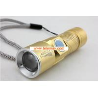 Wholesale Mini portable usb rechargeable led flashlights from china suppliers