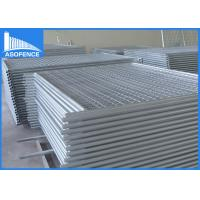 Wholesale Silver Painted Temporary Construction Fencing Flexible With Q235 Material from china suppliers