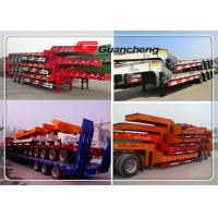 Wholesale 3 Axle Extendable Low Bed Semi Trailer , 40 Foot Gooseneck Trailers from china suppliers