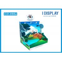 Wholesale 3 Tiers Cardboard Retail Countertop Display , Green Hook Counter Display Stands from china suppliers