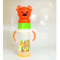 Quality Baby Plastic Bottles With Animal Cap , Small Plastic Baby Bottles With Color Changing for sale