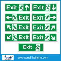 Wholesale Auto Tesing 3W High bright LED emergency exit sign light surface mounted RoHS SAA from china suppliers