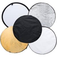 Wholesale 80cm 5 in 1 Portable Photography Studio Multi Photo Disc Collapsible Light Reflector from china suppliers