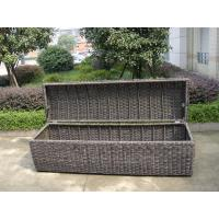 Wholesale Waterproof Grey Resin Wicker Storage Box For Hotel , 1200*600*650mm from china suppliers