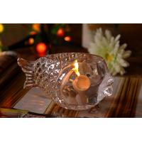 Wholesale Fashional Creative Clear Glass Tealight Candle Holders Small Gold Fish from china suppliers