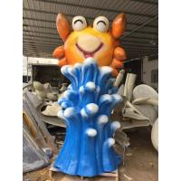 Wholesale Waves Cartoon Crabs Fiberglass Water Toys Blue / Yellow For Water Park from china suppliers