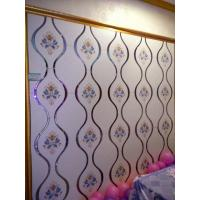 Wholesale White Bedroom Stained Decorative Glass Panels Easy Cleaning Stain Resistance from china suppliers