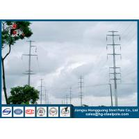 Quality 18m 230KV Polygonal Electric Steel Tubular Pole For Overhead Project for sale