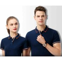 China Black Staff Mens Breathable Polo Work Shirts Screen Printing Plain Solid Blue Color on sale