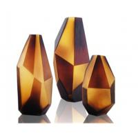 Wholesale Diamond Amber Decorative Glass Ornaments for KTV / Bar Decoration from china suppliers