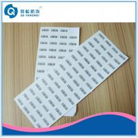 Wholesale Pantone Printed Self Adhesive Labels , Silk Screen Printing Destructive Vinyl Stickers from china suppliers