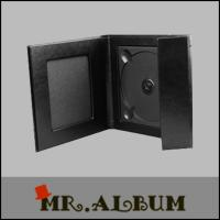 Wholesale Black leather single CD case with overlapping cover_CD case exporter from china suppliers