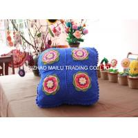 Wholesale Blue Sofa Seat Crochet Cushion Cover Square Hand Crochet Car Seat Cushion Cover from china suppliers