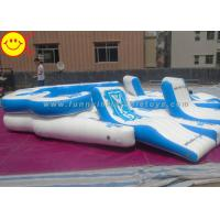 Wholesale Giant Custom Inflatable Raft Party Boat Lake River 10 person Tropical Tahiti Floating Island from china suppliers