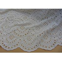 Wholesale Chemical Vintage Eyelet 100% Cotton Lace Fabric For Lady Shirt And Suit Anti Static from china suppliers